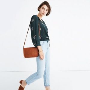 Madewell silk wrapped blouse